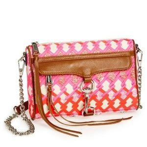 NWT Rebecca Minkoff pink/orange mini mac